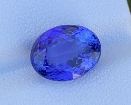 AAA Grade 4.91 CT Tanzanite Gemstone Top Luster