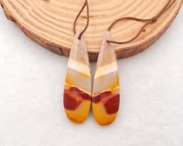 35.5cts natural mookite jasper earrings pair,handmade gemstone ,water drop