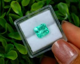 2.37Ct Colombian Muzo Emerald Neon Mint Green Beryl A0104