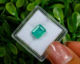 Emerald 2.26Ct Octagon Cut Natural Zambian Green Color Emerald A0112