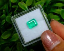 1.14Ct Colombian Muzo Emerald Neon Mint Green Beryl A0118