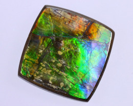 18x18mm,  18.11cts Natural Canadian Ammolite Stone / MA1766