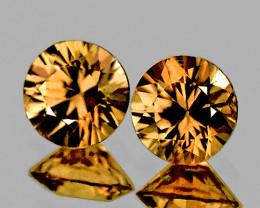 5.20 mm Round Diamond Cut 2 pcs 1.570ct Champagne Zircon [VVS]