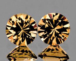 5.00 mm Round Diamond Cut 2 pcs 1.42ct Golden Champagne Zircon [VVS]