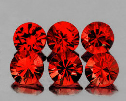 5.00 mm Round Diamond Cut 6 pcs 3.45cts Red Garnet [VVS]