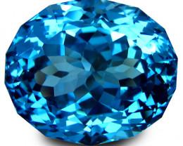 6.92Cts Sparkling Natural Swiss Blue Topaz Oval Custom  Cut Loose Gem VIDEO