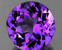 8.00 mm Round 1.71ct Pinkish Purple Amethyst [VVS]