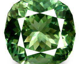 18.55Cts Stunning Natural Green Amethyst (prasiolite)Cushion Custom Cut Ref