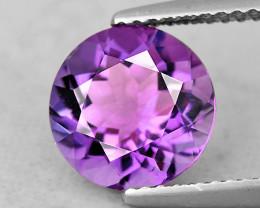 8.00 mm Round 1.67ct Pinkish Purple Amethyst [VVS]