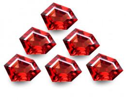 6.10Cts Genuine Natural Unheated Rhodolite Garnet Fancy Cut 6 pieces Loose