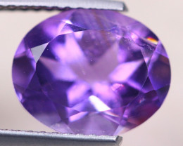 3.29ct Natural Purple Amethyst Oval Cut Lot V8593