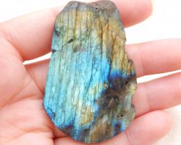 147.5cts labradorite stone cabochon, raw labradorite healing stone D949