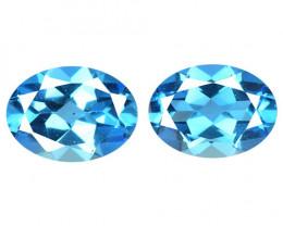 *No Reserve* Topaz 2.77 Cts 2Pcs Blue Natural Gemstones