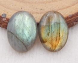 12.5cts natural labradorite cabochon pairs,labradorite stones,loose gemston
