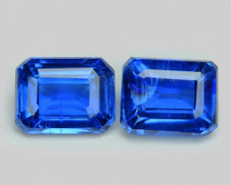 Kyanite 1.11 Cts 2pcs Fancy Royal Blue Color Natural Gemstone