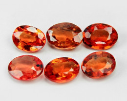 *NoReserve*Sapphire 1.02 Cts 6Pcs Natural Fancy Orange Red Color Gemstone