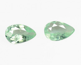 *NoReserve*Paraiba Tourmaline 0.36 Cts 2Pcs Natural Green Gemstones