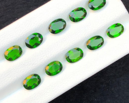 8.90 Ct  Natural Chromium Diopside almost Calibrated