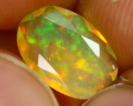 Welo Opal 1.08Ct Natural Ethiopian Play of Color Opal D0316/A44