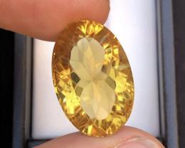 Flower Cut Splendid Color 20.35 Ct Gorgeous Color Natural Citrine