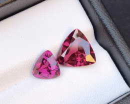 Amazing Pair  One  Sided Rare 6.10 Ct Superb Color Natural Mahenge Garnet