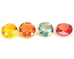 *NoReserve*Sapphire 2.57 Cts 4Pcs Rare Mix Color Natural Gemstones