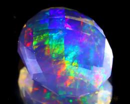 7.76Ct ContraLuz Precision Cut Mexican Very Rare Species Opal B0205