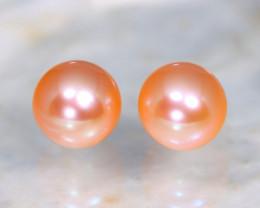 7.6mm 6.10Ct Natural Australian South Sea Orange Color Pearl B0212