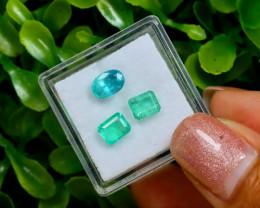 2.42Ct Natural Afghanistan Panjshir Emerald Green B0214