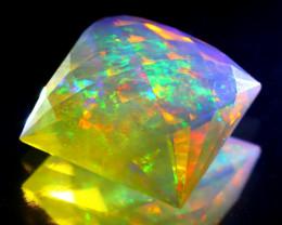 8.96Ct ContraLuz Precision Cut Mexican Very Rare Species Opal B0216