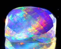 7.49Ct ContraLuz Precision Cut Mexican Very Rare Species Opal B0218