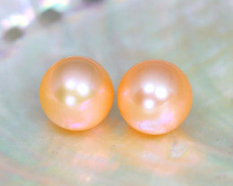 8.3mm 7.89Ct Natural Australian South Sea Orange Color Pearl B0232