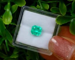 1.28Ct Colombian Muzo Emerald Neon Mint Green Beryl EM147