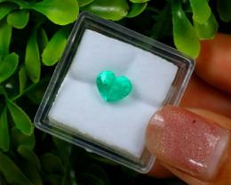 1.26Ct Colombian Muzo Emerald Neon Mint Green Beryl EM148