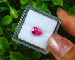 1.35Ct Unheated Pigeon Blood Red Mozambique Ruby EM151