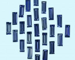 2.55 Cts Natural Beautiful Blue Iolite 5x2mm Baguette Cut Parcel Tanzania
