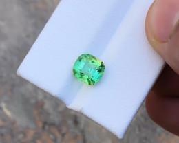 2.55 Ct Natural Greenish Blue Transparent Tourmaline Gemstone