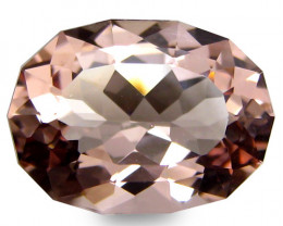 2.45Cts Beautiful Natural Peach Pink Color Morganite Oval Custom Cut Loose