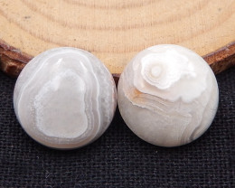 20.5cts natural crazy lace agate cabochons,round shape agate D976