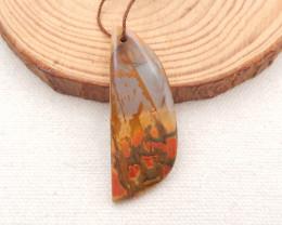 32.5cts multi-color picasso jasper gemstone pendant,jasper pendant D981