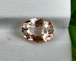 ~GORGEOUS~ 1.72 Cts Pretty Natural Peach Pink Morganite Brazil