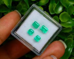 1.47Ct Colombian Muzo Emerald Neon Mint Green Beryl A0401