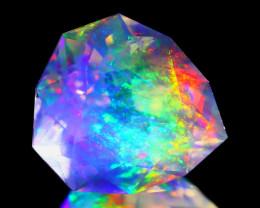 5.59Ct ContraLuz Precision Cut Mexican Very Rare Species Opal A0404