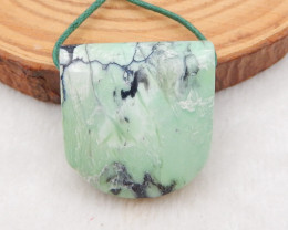 48.5cts Hand Made Green Turquoise Pendant Bead,,Natural Green Turquoise Gem