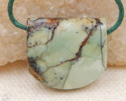 22.5cts Hand Made Green Turquoise Pendant Bead,,Natural Green Turquoise Gem