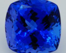 $1500 4.36CT 9X9MM If Stuning!! Octagon Natural AAA D-Block Blue Tanzanite-