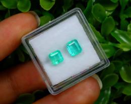 1.65Ct Colombian Muzo Emerald Neon Mint Green Beryl A0431