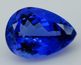 4.47 CT Super Clean !! IF Pear Natural D-Block Blue Tanzanite--TN55