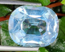 12.00 CTS NATURAL  SWISS BLUE-TOPAZ  CUSTOM CUT GENUINE UNHEATED