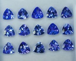 5.0 Cts Natural Purple Blue Tanzanite Trillion Cut Tanzania